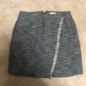 Loft black and white skirt